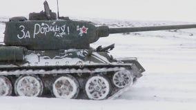 Legendarische Russische Tanks T34 stock video