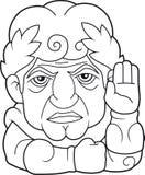 Legendarisk kejsare av Rome Guy Julius Caesar stock illustrationer