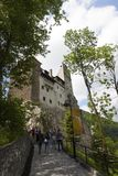 Legendarisk slott, Dracula uppehåll i Transylvania, Rumänien Royaltyfri Fotografi