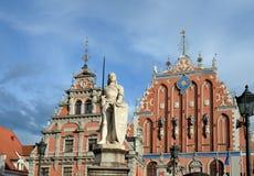 Legendariskt hus av pormaskarna i Riga arkivbilder