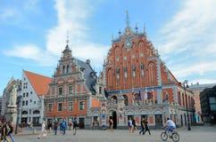 Legendariskt hus av pormaskarna, Riga royaltyfri bild