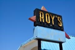 Legendariskt kafé för Roy ` s på den historiska huvudvägen Route 66 royaltyfri fotografi