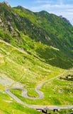Legendarna Tranfagarasan droga w Rumuńskich górach Zdjęcie Stock
