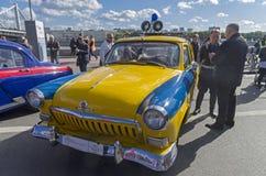 Legendarny Radziecki samochodowy Volga GAZ M-21 Obrazy Stock