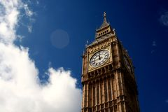 The Legendary Big Ben. The impressive clock tower of Big Ben Stock Photography