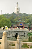 Legendary bridge from Beijing Imperial Park: Beihai from Beijing. China Royalty Free Stock Photos