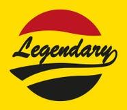 Legendary Caligraphy Design Royalty Free Stock Image