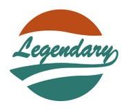 Legendary Caligraphy Design Royalty Free Stock Photos