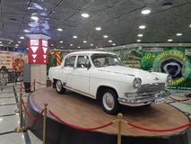 Legendary car GAZ21. The legendary car GAZ 21 is on display in the city of Yekaterinburg Russia stock image