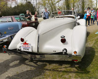 Legendary Cars, Auburn Boattail Speedster Replica. Legendary Auburn Boattail Speedster 1936 Supercharged - arctic-white color replica. (Only 83 of the originals Stock Photos