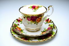 Legendary china porcelain tea set Country Roses in private colection Stock Images