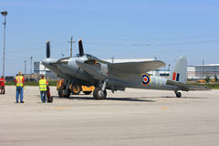 Legendary De Havilland Mosquito in preparation to fly on Hamilton SkyFest 2014 Royalty Free Stock Image