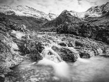 Legendary Fairy Pools at Glenbrittle at the foot of the Black Cuillin Mountains Royalty Free Stock Photos