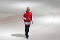 Legendary hockey player V. Kucherenko Stock Photos