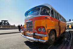Legendary and iconic Malta public buses Royalty Free Stock Photo