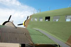 Legendary Junkers 52 aircraft. Wartime airplane from Nazi germany at airshow Royalty Free Stock Photography
