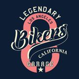 Legendary los angeles bikers california Royalty Free Stock Images