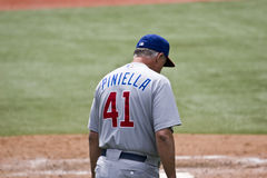 Legendary Lou Piniella. TORONTO - JUNE 14: Lou Piniella #41 makes a pitching change during the Chicago Cubs vs. Toronto Blue Jays game at the Rogers Centre June stock photography