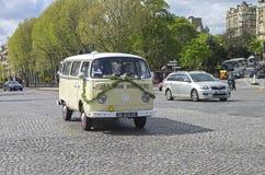 The legendary minivan Volkswagen Transporter T2b Stock Photo