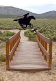 The legendary pony express of the past. Stock Photography