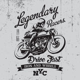 Legendary Racers Poster Royalty Free Stock Image