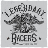 Legendary Racers Poster Royalty Free Stock Images