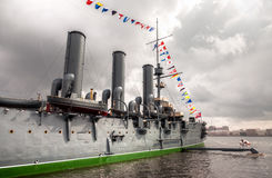 The legendary revolutionary cruiser Aurora Royalty Free Stock Photography