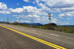 Legendary route  66. A piece of famoius route 66 in the USA Royalty Free Stock Photos