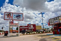 Legendary Route 66 Diner is a classic on historic highway Route 66 Stock Photography