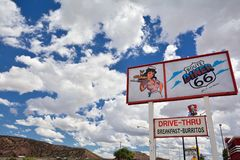 Legendary Route 66 Diner is a classic on historic highway Route 66 Stock Image