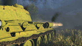 Legendary Russian Tank T 34 Close-up stock footage