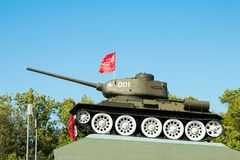 Legendary of the Second World War  soviet medium tank T-34 Stock Photography