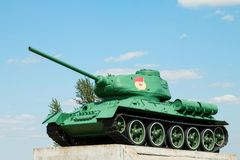 Legendary of the Second World War  soviet medium tank T-34 Royalty Free Stock Photo