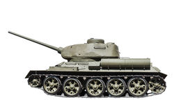 Legendary Soviet tank T-34-85 at war in the second world war Royalty Free Stock Photo