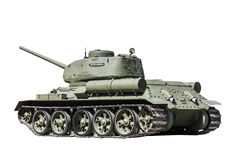 Legendary Soviet tank at war in the second world war Royalty Free Stock Photo