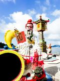 The legendary statue of God in fantasy novels of China is locate Royalty Free Stock Photos