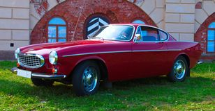 Legendary Swedish sports car Volvo P1800 on Festival of Retro Te. Russia, St. Petersburg, September 8, 2018: Legendary Swedish sports car Volvo P1800 on Festival royalty free stock photo