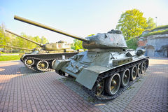 The legendary tank of the second world war Royalty Free Stock Photo