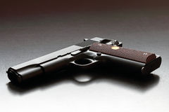 Legendary US .45 caliber handgun. Stock Photos