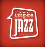 Legendas do jazz Fotografia de Stock Royalty Free