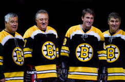 Legendas dos Boston Bruins Fotos de Stock Royalty Free