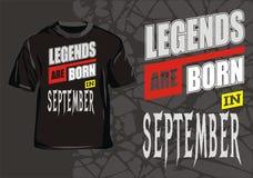 Legende sind im September geboren lizenzfreie abbildung