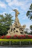 Legende von 5 Ziegen, die fünf Ziegen-Statue, Yuexiu-Park, Guangzhou stockbilder