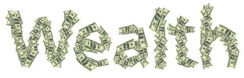 Legenden-Reichtum gemacht von den Dollar lizenzfreie stockfotos