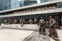 Legenden rudern in der Air Canada-Mitte, Toronto stockbild
