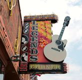 Legender Live Music Corner Downtown Nashville Arkivfoto