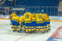 Legends Team Sweden before the hockey game Royalty Free Stock Images