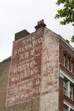 Leger des Heilsadvertentie bij het inbouwen van Londen Stock Afbeelding