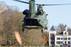 Leger en de oefening van de Luchtmachthelikopter Royalty-vrije Stock Foto's