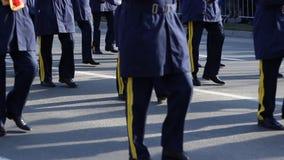 Leger Fanfare Parade stock footage